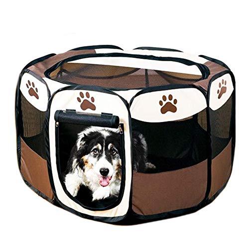 GCSEY Hond Tent, Draagbare Outdoor Hond Speelgoed, Oefening 8-Panel Kennel Mesh Shade Cover Binnen/Outdoor Tent Hek voor Huisdieren Honden Katten