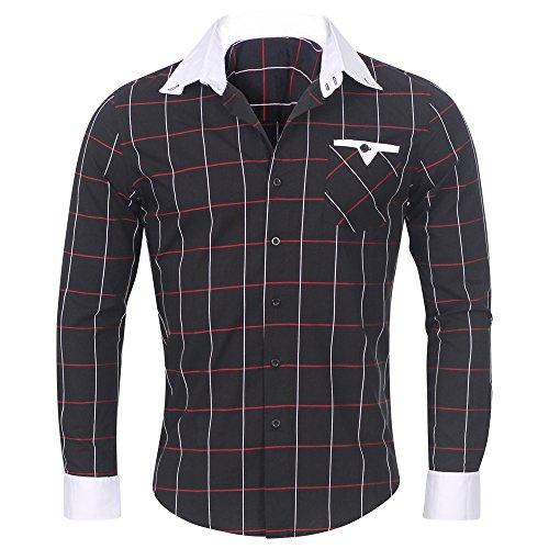 Newfacelook Élégant Prime Hommes Occasionnels Mince Chemises habillées Belle Slim Fit Shirt Top Collection