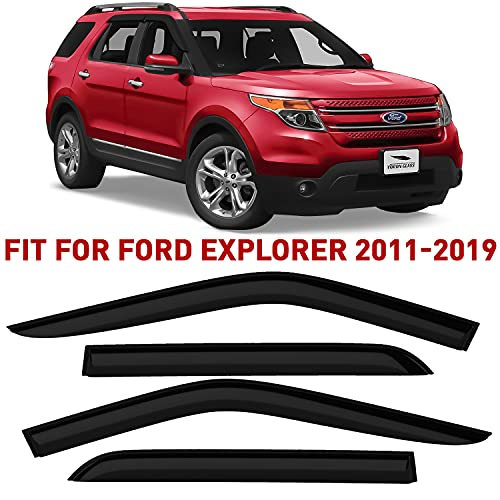 Voron Glass Tape-on Extra Durable Rain Guards for Ford Explorer 2011-2019,...