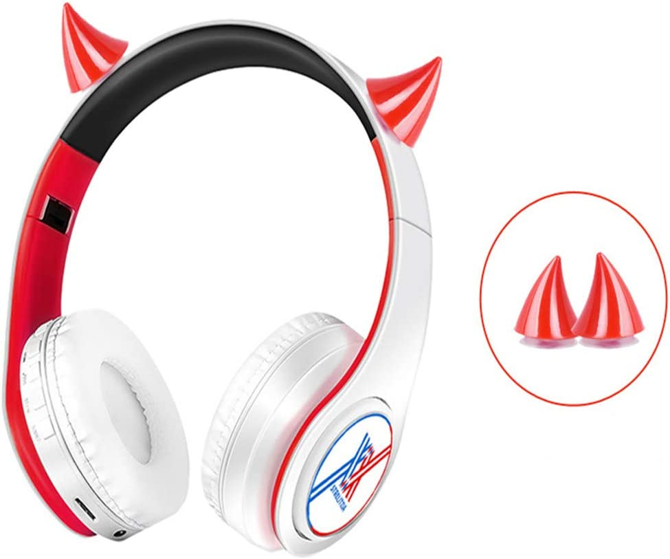 damdos Headphone for Darlings in The Franxx Cosplay Bluetooth Headsets Two-Ear Headphone Earphone