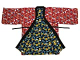 Edoten Japan Womens Hanten Pattern Reversible Hand wash possible Polyester Red butterfly L