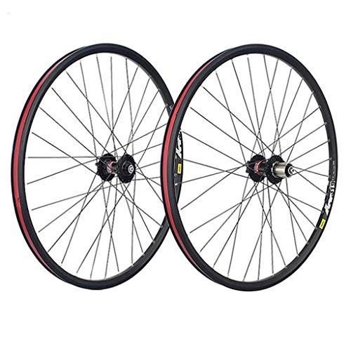 M-YN Juego Ruedas Bicicleta, Rueda Delantera y Posterior de la Bicicleta Set 26/27,5/29 x 1,5 32H, aleación, Freno de Disco, Negro (Size : 26inch)