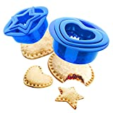 Yumkt Sandwich Cutter and Sealer Heart Uncrustable Sandwich Maker Star Lunchbox and Bento Box Bread Decruster Remover Set 2 for Kids Gifts