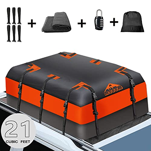MSSSM Rooftop Cargo Carrier bag, 21 Cubic Feet 100% Waterproof Car Roof Bag for All Vehicle...