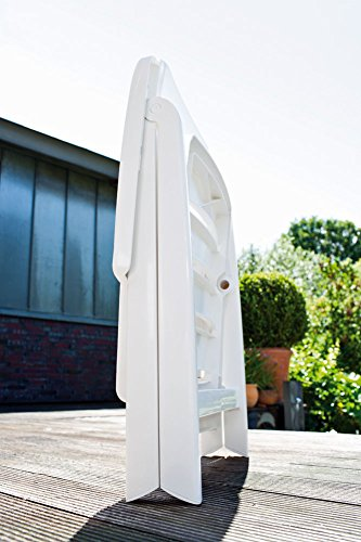 Kettler 1 Gartenstuhl Multipositionssessel Nizza klappbar aus Kunststoff in weiß