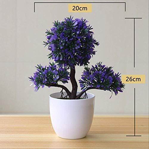GJJDF Kunstpflanze für Pflanzen, Bonsai, Kunststoff, Blumen, Gras, Hochzeit, Weihnachten, Balkon, Topfpflanzen, Herbstdekoration, B-9