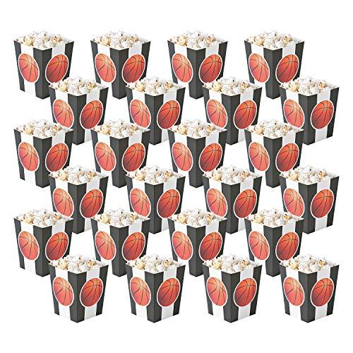 Fun Express Basketball Popcorn Boxen   Snack Server   24 Stück   Ideal für Kinderpartys, Geburtstage, Pyjama-Partys, Babypartys