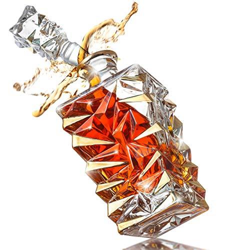 Amerigo Whisky Karaffe Geschenkset - Vatertagsgeschenk Ideen - Geschenke für Männer - Whiskey Eiswürfel Wiederverwendbar - Geburtstagsgeschenk für Männer - Papa Geschenke - Whisky Zubehör