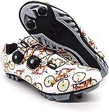 KUXUAN Zapatillas de Ciclismo MTB para Hombre y Mujer Zapatillas de Bicicleta de Montaña SPD - Zapatillas de Ciclismo Transpirables para Exteriores con Tacos SPD,B-43=(265mm)