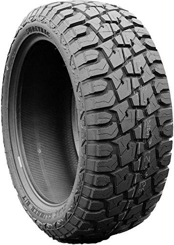Suretrac Wide Climber RT All-Terrain Mud Off-Road Light Truck Radial Tire-33X12.50R22LT 33X12.50X22 33X12.50-22 114R Load Range F LRF 12-Ply BSW Black Side Wall