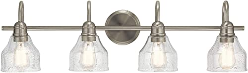wholesale Kichler 45974NI Avery lowest Vanity Light, high quality 4, Brushed Nickel outlet online sale