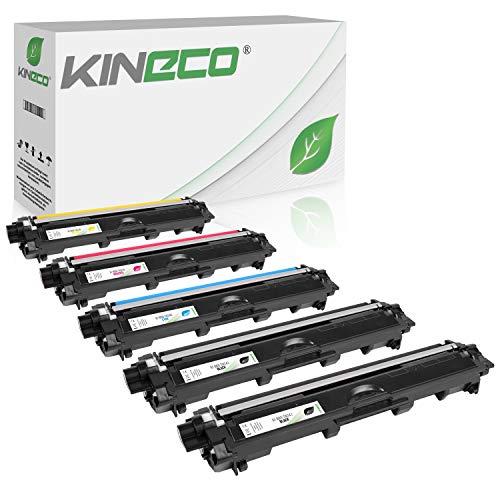 Kineco 5 Toner kompatibel für Brother TN-241 TN-245 für Brother DCP-9022CDW MFC-9142CDN 9342CDW 9332CDW HL-3150CDW - TN-241BK TN-245C TN-245M TN-245Y - Schwarz je 2.500 Seiten, Color je 2.200 Seiten