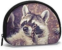 布おかしいアライグマコイン財布小さなジッパーウォレットバッグチェンジポーチミニ化粧品メイクアップバッグオーガナイザー多目的ポーチ