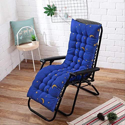 Tdicken Chair ligstoel, opvouwbaar, voor tuin, vloer, dubbelzijdig, 48 x 125 cm, marineblauw