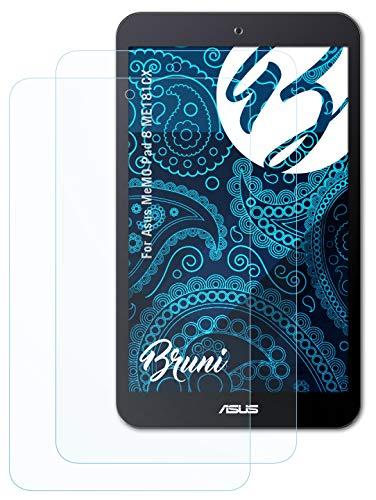 Bruni Schutzfolie kompatibel mit Asus MeMO Pad 8 ME181CX Folie, glasklare Bildschirmschutzfolie (2X)