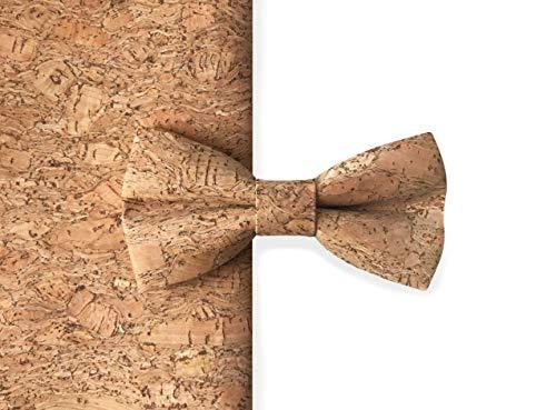 MAY-TIE Herren Fliege aus 100% Kork, Style: Canyon, handgefertigte Korkfliege gebunden und stufenlos verstellbar mit Hakenverschluss