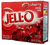 Jell-O Gelatin Dessert, Cherry, 3 oz