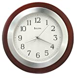 Bulova C4228 Reedham Clock, Walnut Finish