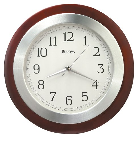 Bulova C4228 Reedham Clock, Walnut Finish