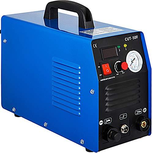Mophorn 50Amp Plasma Cutter, 110 220V Dual Voltage Plasma Cutting Machine, Max 12MM Thickness Clean Cut, Portable Plasma Cutting Machine IGBT Inverter Digital Plasma Cutting Equipment