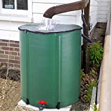 66 Gallon Collapsible Rain Barrel, Foldable Water Storage Tank, Portable Rainwater Collector, Folding Water Catcher Container