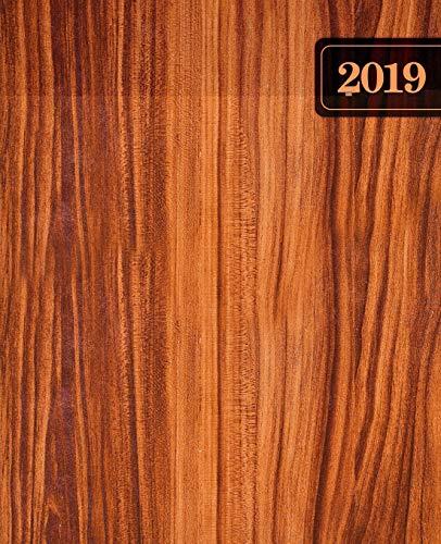 Agenda 2019 Semana Vista: 190 x 235 mm : Agenda 2019 semana vista español : 160 g/m²: madera marron 7245