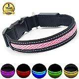 MASBRILL USB Collar de Perro LED Recargable Iluminado Collar...