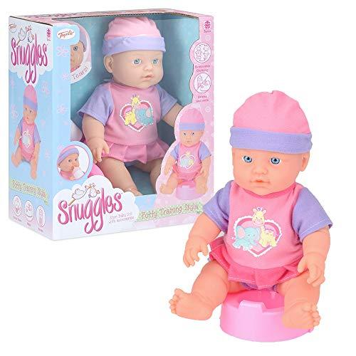 Toyrific Snuggles Baby Doll con accessori, funzione piangere, bere e bagnato, vasino allenamento Skyla