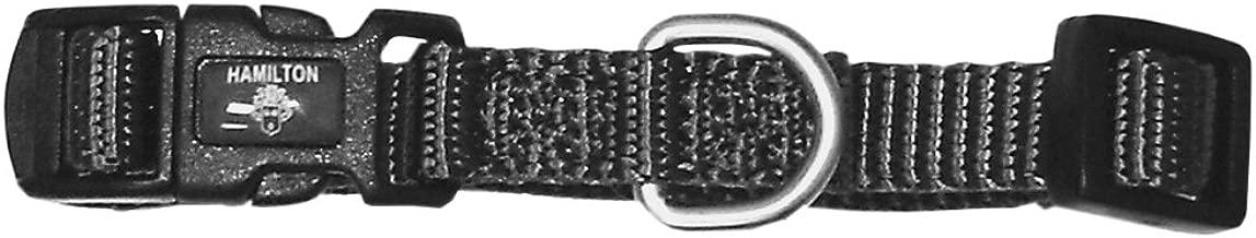 Hamilton Adjustable Dog Collar with Brushed Hardware