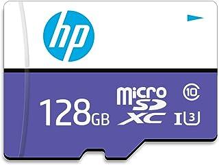 【Amazon.co.jp 限定】HP microSDXCカード 128GB パープル UHS-I(U3) 4K Class10対応 最大読出速度100MB/s、最大書込速度60MB/s 1年間保証 HFUD128-1U3-PA