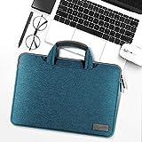 HNKHKJ Bolso de Mano portátil de Lona Impermeable para Macbook Air Pro Retina 11 12 13 14 15 Pulgadas Bolsa para computadora portátil para PC Bolsa para computadora portátil-Dark_Green_13-Inch
