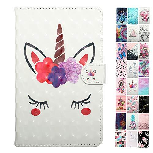 Coeyes Tablet-PC Hülle kompatibel für Universal 10 Zoll (9.5-10.5 Zoll) Tasche Leder Flip Hülle Etui Schutzhülle Cover mit Kartenfach - Wimpern Muster Design