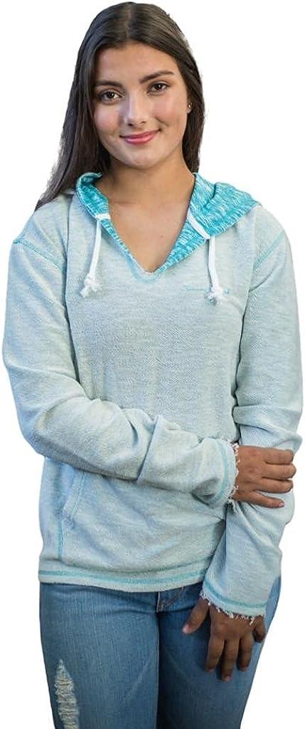 Kimes Ranch Western Sweatshirt Womens Logo S Lite Blue Aztec-Hood