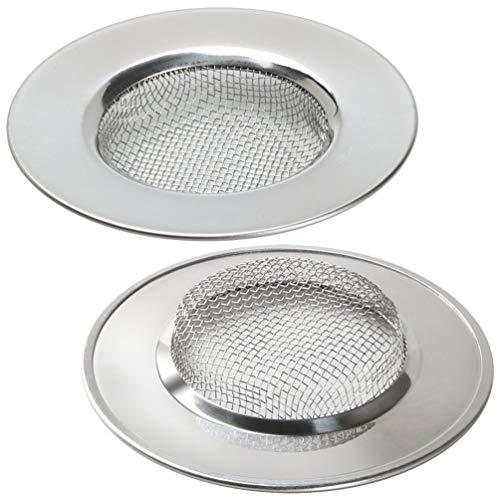 LB Trading Filtro de acero inoxidable para fregadero lavabo bañera 7.7 cm...
