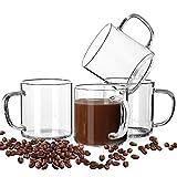 LUXU Glass Coffee Mugs Set of...
