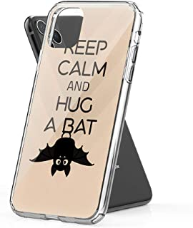 Lucky Cicity Compatible for iPhone 11 Keep Calm and Hug a Bat Funny Animal Hard PC with Soft TPU Edges Anti-Yellowing Protective Case
