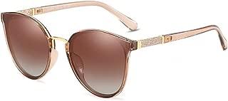 SGJFZD Outdoor Seaside Sunscreen UV400 Polarized Sunglasses Fishing Ladies' Polarized Sunglasses Trendy Polarized Sunglasses Sporting Large Frame Elegant Sunglasses Round Vintage Retro PC