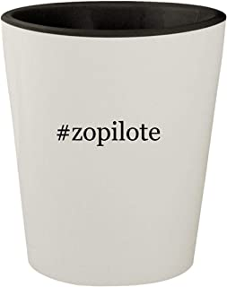 #zopilote - White Outer & Black Inner Hashtag Ceramic 1.5oz Shot Glass