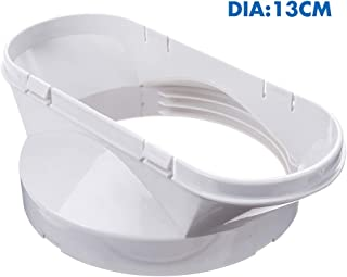 D-SYANA8 - Adaptador de ventilación para ventana de PVC de 13 cm para aire acondicionado móvil y secadora, fácil de instalar, sin necesidad de taladrar agujeros, portátil, color blanco
