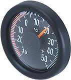 HR-imotion 10010201,termometro per Auto, casa, Campeggio, ECC, (per Interni ed Esterni, Fissaggio Adesivo, Realizzato in Germania, -30°C–+50°C)