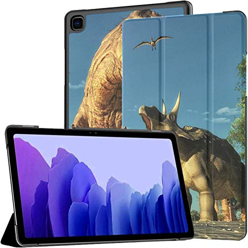 QIYI Funda para Galaxy Tab A7, funda inteligente para tablet Samsung A7 de 10.4 pulgadas de 2020 (SM-T500/T505/T507), ligera, triple plegable, a prueba de golpes, funda protectora – 2 dinosaurios