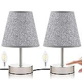 ☀ 【Fashion Design】: Una combinazione di design minimalista ed elegante conferisce a questa lampada da tavolo più estetica e la rende un'aggiunta perfetta alla tua stanza. Il semplice stile nordico e le luci calde e soffuse creano un'atmosfera moderna...