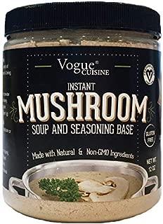 Vogue Cuisine Mushroom Soup & Seasoning Base - Low Sodium & Gluten Free (12 oz)