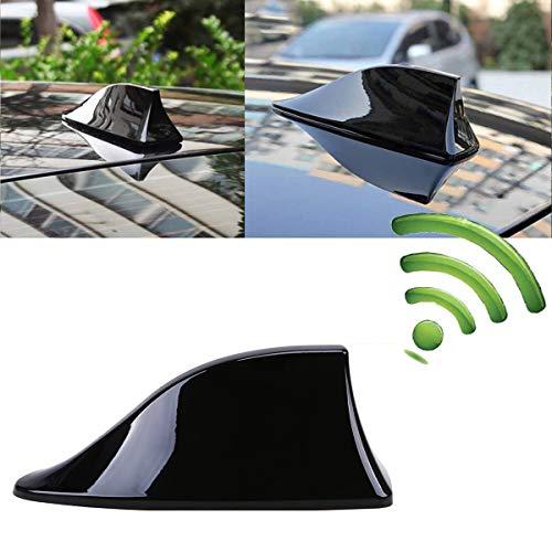 Heart Horse - Antenna universale per auto, a forma di pinna di squalo, con base adesiva, impermeabile, colore: nero