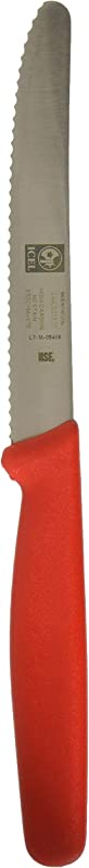 Icel Cutlery 4 Serrated Round Edge Red Steak Knife