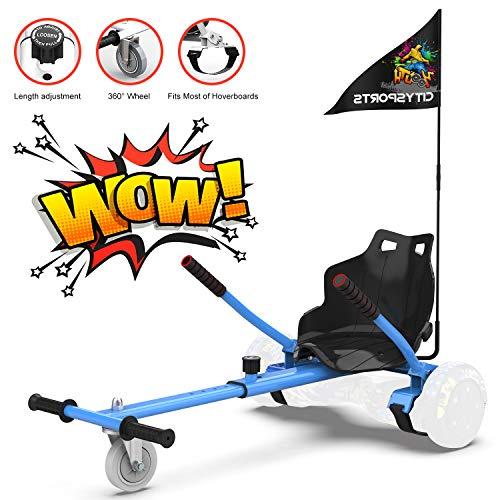 Hoverkart para Patinete eléctrico Asiento Kart para Self Balancing Scooter Longitud Ajustable, Compatible con Todos los patinetes - 6.5/8 /...
