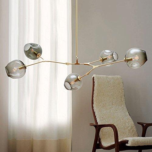 lemumu Lampade led personalizzato americana soggiorno arte luce bolla ristorante a sfera luminosa 11 head gold coperchio trasparente