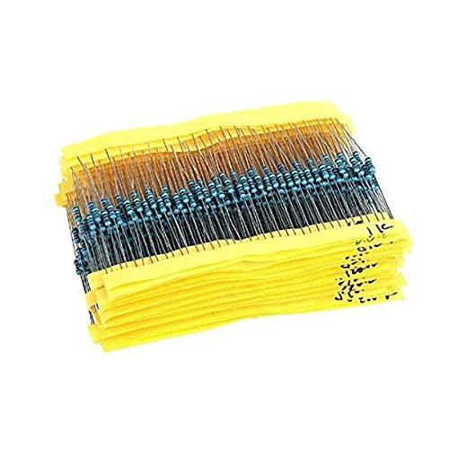 BESTOMZ 2600pcs 130 Werte - 1/4W Metallfolie Widerstand Widerstände Sortiment Kit Set