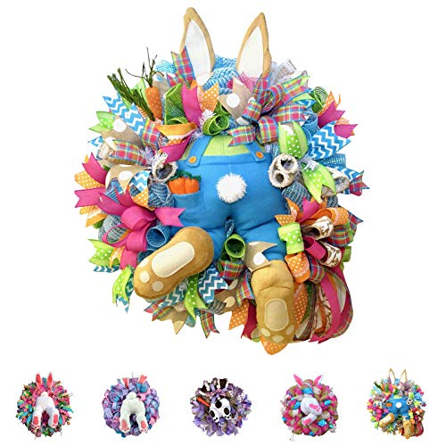 Easter Wreaths for Front Door,Cute Bunny Butt Easter Decorations,Easter Wreaths Door Signs,Artificial Faceless Doll,Easter Decorations Ornaments for The Home,Easter Gifts for Women/Men (Easter-#002)