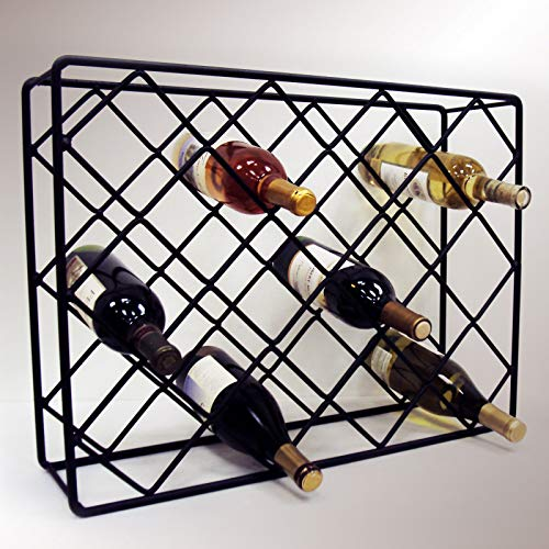 J&J Wire Rectangle Diamond Wine Rack